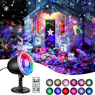Water Wave LED Projector Light - Ocean Wave Waterproof LED Ripple RGB 3D Water Effect with Remote Control Undersea Strobe Projector Lamp for Christmas Halloween Wedding Party Holiday Disco Kids Adult