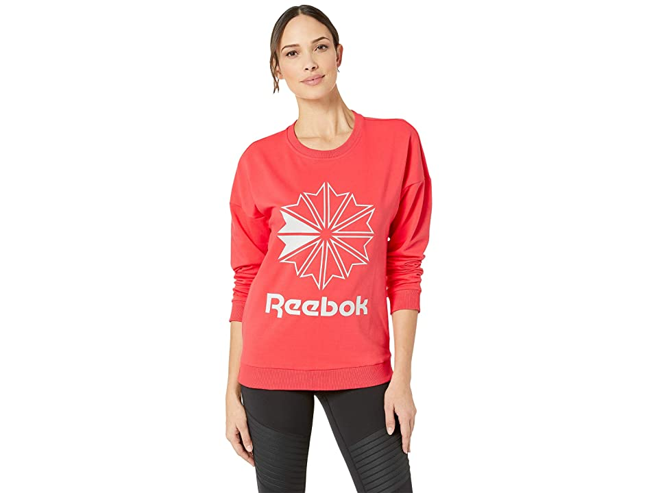 Reebok Classics French Terry Big Logo Crew (Bright Rose) Women
