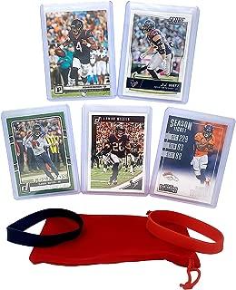 Houston Texans Cards: Deshaun Watson, J.J. Watt, DeAndre Hopkins, Lamar Miller, DeMaryius Thomas ASSORTED Football Trading Card and Wristbands Bundle