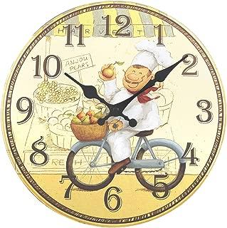 ufengke Reloj de Pared Cocina Madera Vintage Reloj Quartz