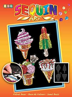 Sequin Art Orange, Ice Creams, Sparkling Arts and Crafts Picture Kit, Creative Crafts