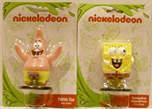 Monogram Nickelodeon 2 Character Figurine/Cake Topper Bundle - PVC 2.75 inches - Spongebob Squarepants & Patrick Star