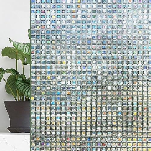Warmcasa Vinilo Ventana Privacidad Vinilo Mampara Ducha Baño Cristal Decorativa, Decorativa del Película Adhesivo Facíl