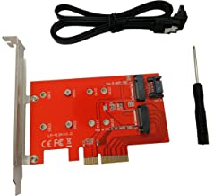 Tenext M.2 PCIe 3.0 x4(M-Key) and SATA III(B-Key) 2230 2242 2260 2280 SSD to PCI Express 3.0 x4 Adapter Expansion Card