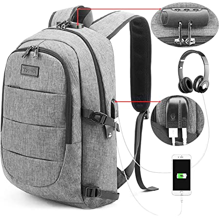 Anti Theft 15.6 Inch Water Resistant Laptop Backpack School Travel Bag for Dell