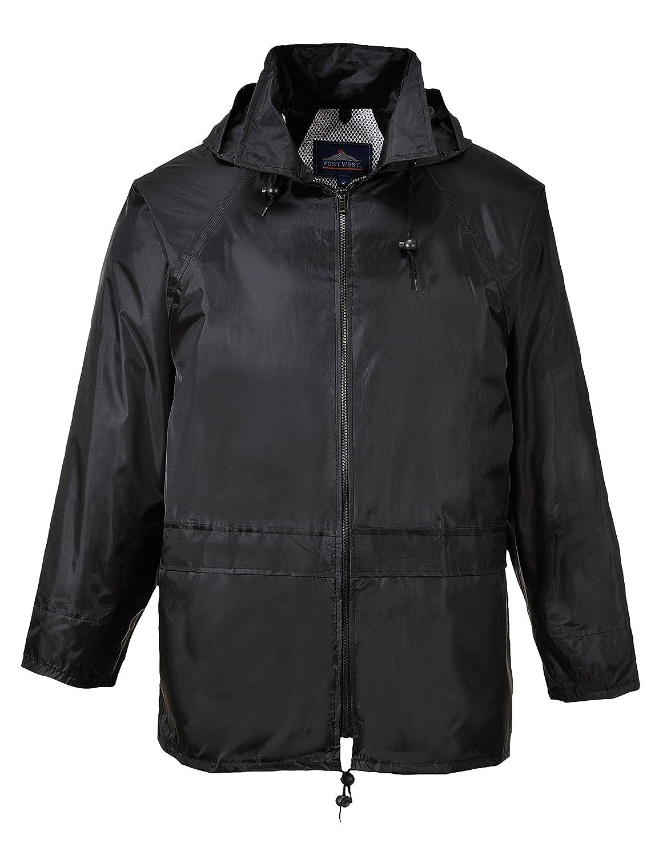 Portwest US440BKR6XL Classic Rain Jacket, Fabric, 6XL, Black