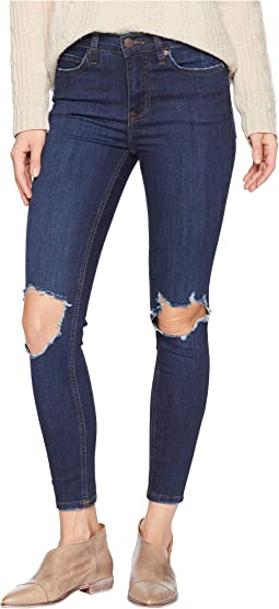 Busted Skinny Jeans in Dark Blue