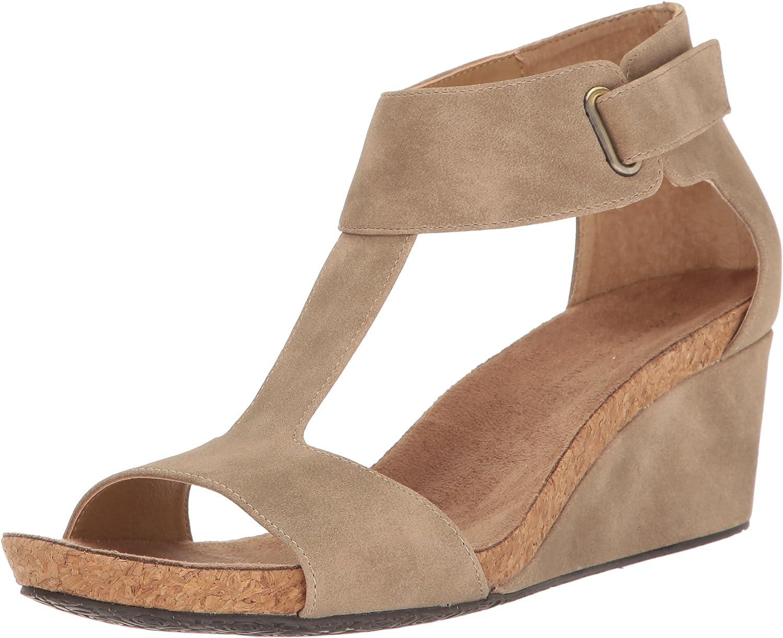 Adrienne Adrienne Adrienne Vittadini kvinnor Trellis Fotsäng T -Strap Wedge Sandal  officiell kvalitet