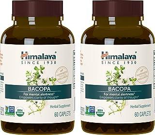Himalaya Organic Bacopa Monnieri / Brahmi, Nootropic Brain Supplement Booster for Mental Sharpness, Focus, Memory, and Cog...