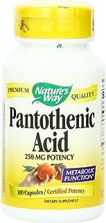 Nature's Way Pantothenic Acid, 100 Caps 250 mg