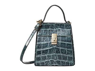 Brahmin Veil Midge Crossbody (Obsidian) Handbags