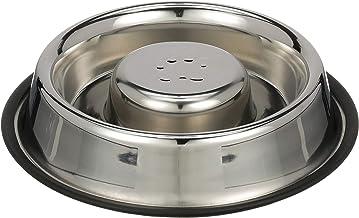 Verde rallenta lassunzione di Cibo 18,5x45 cm YFOX Ciotola per Cani e Gatti a Alimentazione lenta Antiscivolo Realizzata con Materiali ecologici