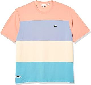 Lacoste Men's Short Sleeve Relax Fit Colorblock Pique T-Shirt