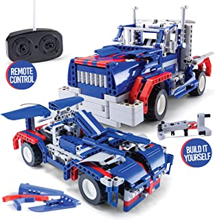 Stem Building Toys for Boys Building Sets stem Toys 2 in 1 rc car stem Kits for Boys Gift Toys for Boys Ages 5 6 7 8 9 10 11 12 13 14 Year olds and Older, rc car Remote Control car Model car Kits