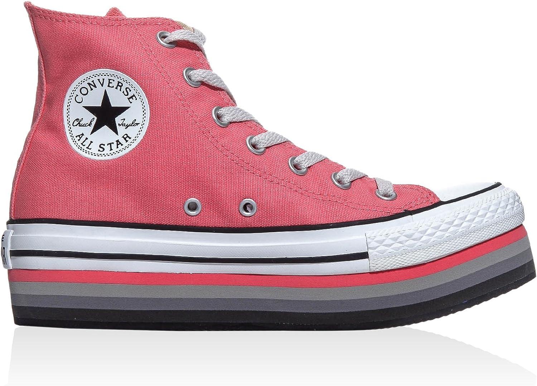 Converse Sneaker Alta A/S Hi Platform Eva Canvas Salmone EU 39.5 ...