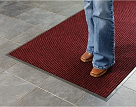 product image for Apache Mills Deep Cleaning Ribbed 6'W Roll Entrance Mat, Red