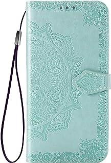 zl one Kompatibel med/ersättning för telefonfodral Alcatel 3X 2019 PU-läder skyddskort fack plånbok flip fodral (grön)