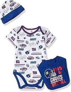 0c76837cb NFL New York Giants Unisex-Baby Bodysuit, Bib & Cap Set, Blue,