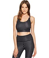Kate Spade New York Athleisure - Polka Dot Scallop Sports Bra
