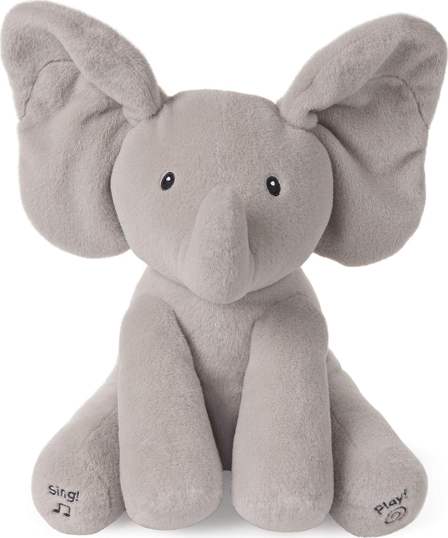 Baby GUND Animated Flappy The Elephant Stuffed Animal Baby Toy Plush