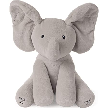 "GUND Baby Animated Flappy The Elephant Stuffed Animal Plush, Gray, 12"""