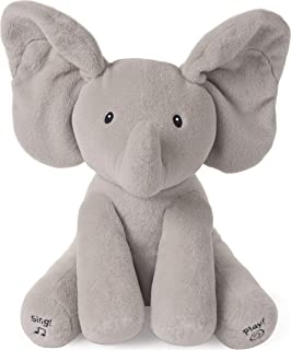 "Baby GUND Animated Flappy The Elephant Stuffed Animal Baby Toy Plush, Gray, 12"""