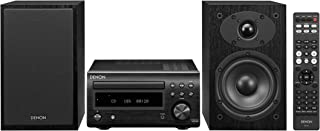 Denon D-M41 Home Theater Mini Amplifier and Bookshelf Speaker Pair - Compact HiFi Stereo System with CD, FM/AM Tuner and Wireless Bluetooth Music | Perfect for Small Rooms and Home Cinema