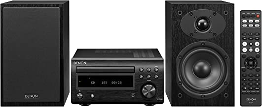 Denon D-M41 Home Theater Mini Amplifier and Bookshelf Speaker Pair - Compact HiFi Stereo System with CD, FM/AM Tuner and W...