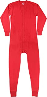 Mens Waffle Red Union Suit Underwear