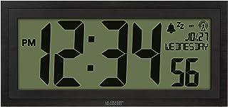 ساعة لاكراس تكنولوجي 515-1419-INT الرقمية الذرية، أسود داكن