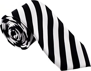 Mens Fashion Striped Tie - Great for Weddings, Parties, Costumes, Halloween - Many Colors to Choose From