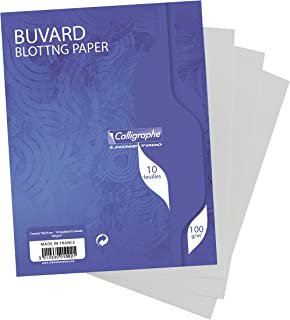 Clairefontaine 16 x 21 cm Blotting Paper, Plain, Pack of 10 Sheets