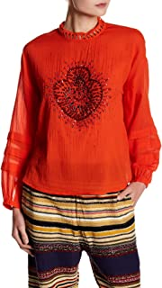 Womens Heart of Gold Knit Blouse