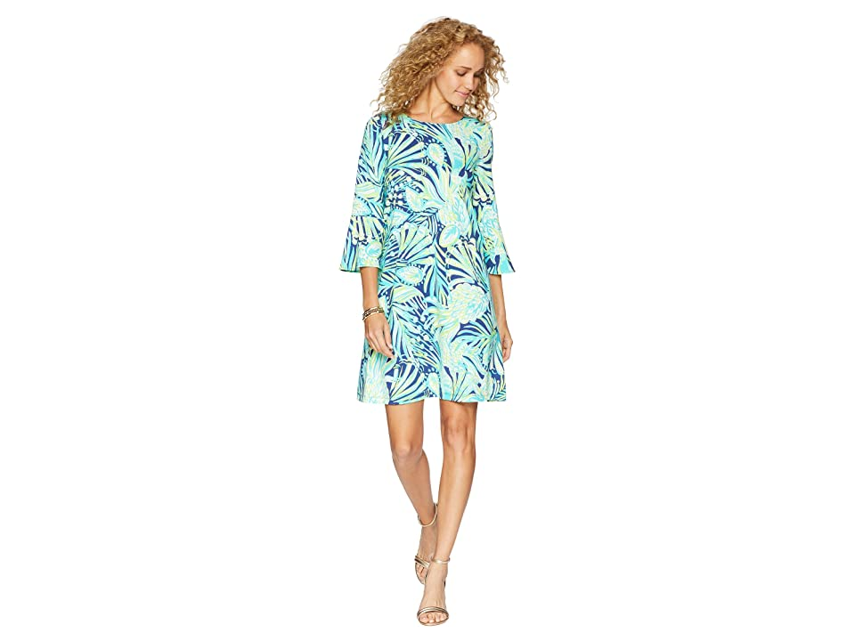 Lilly Pulitzer Ophelia Dress (Bright Navy Party Like A Flock Star) Women