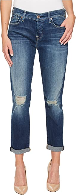 7 For All Mankind Josefina w/ Knee Holes - Squiggle in Liberty 4