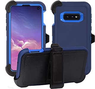 AlphaCell Cover Compatible with Samsung Galaxy S10e (Only)   Holster Case Series   Military Grade Protection with Carrying Belt Clip   Protective Drop-Proof Shock-Proof   Navy Blue/Blue