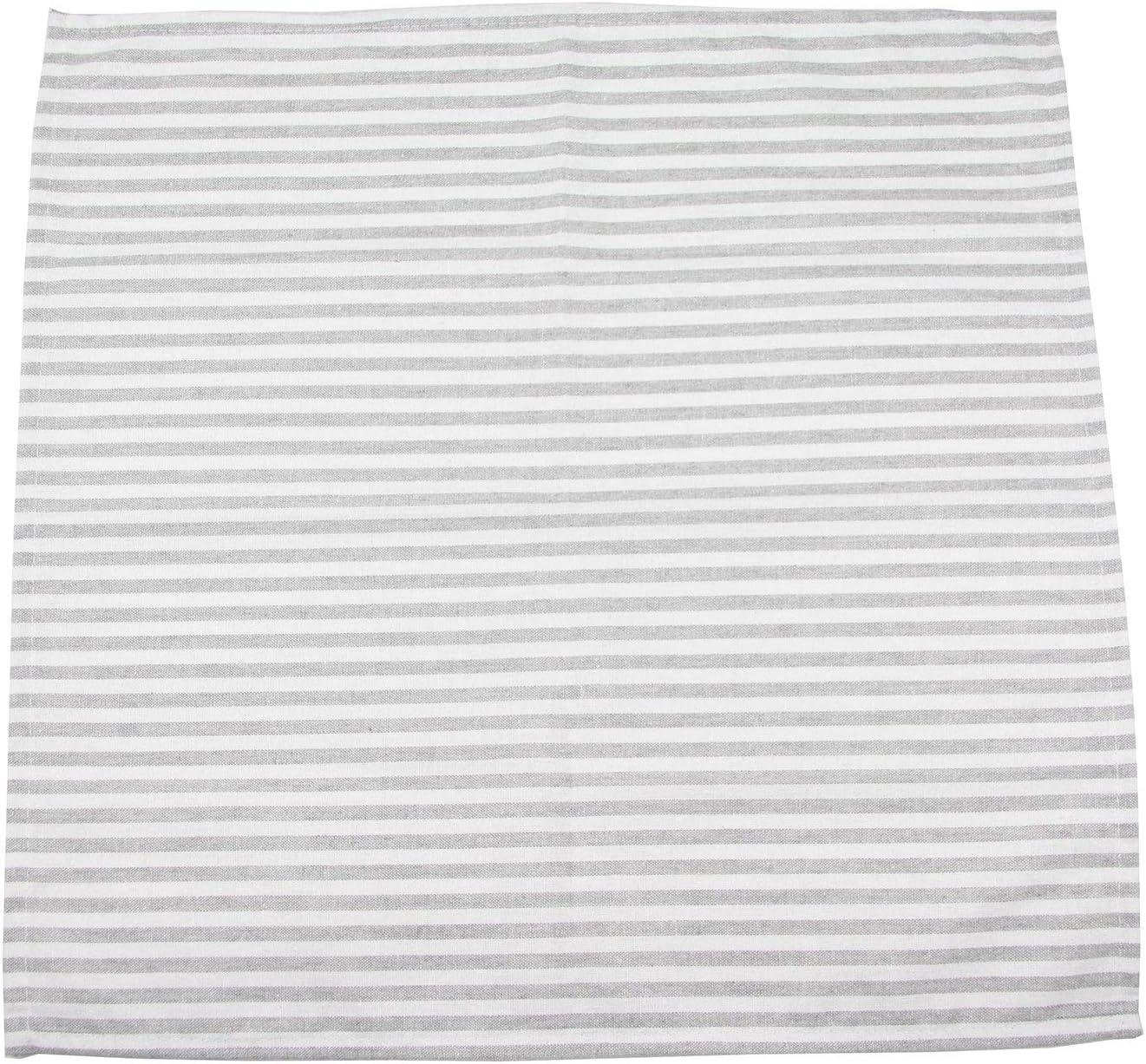 Grau INFEI Weich Einfach Gestreift Leinen Baumwolle Abendessen Cloth Servietten f/ür Veranstaltungen und den Heimgebrauch 12 St/ück 17 x 17 Zoll