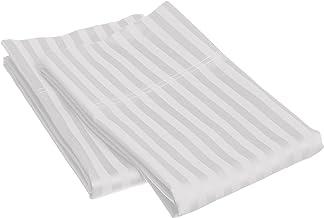 Superior 1500 Series Premium Quality 100% Brushed Soft Microfiber Pillowcase Set of 2, Classic Sateen Stripe, Cooling Luxu...