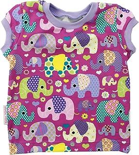 Kleine Könige Baby T Shirt Mädchen  Modell Elefantenparty lila Flieder  Ökotex 100 Zertifiziert  Größen 62-140
