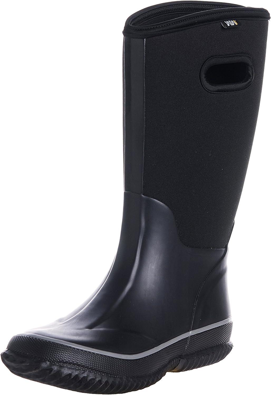 Fuyang WTW Men's Neoprene Rubber Rain Snow Boots Black