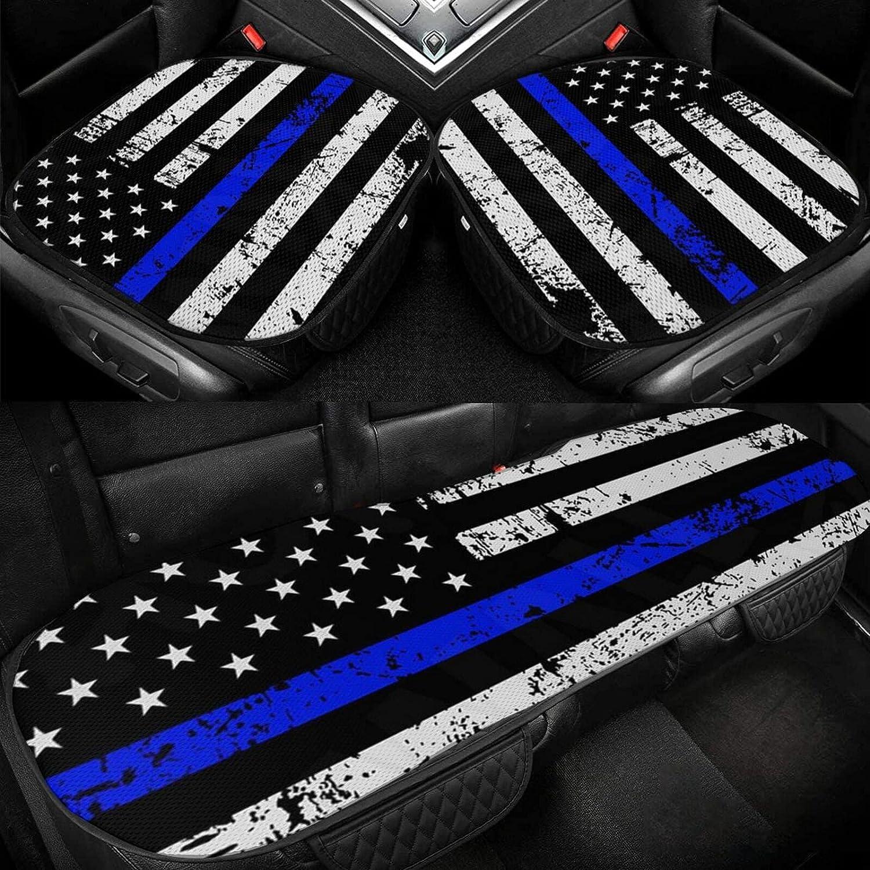 Retro Blue Thin Line USA Flag Cushion Car Dri security Seat 5% OFF Silk Ice