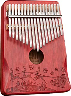 $42 » Etosok Kalimba Thumb Piano 17 keys Finger Portable Mbira Sanza with EVA Box Tuning Hammer and Study Booklet Gift Upgraded ...