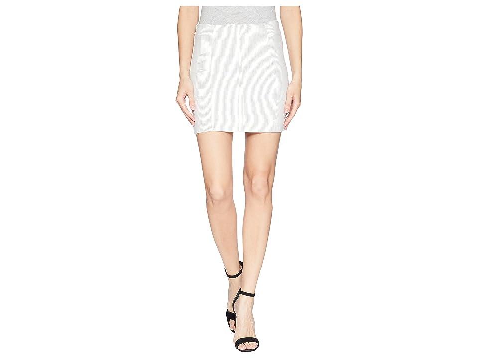 Free People Modern Femme Novelty Skirt (Black/White Combo) Women
