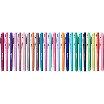 Amazon Basics Felt Tip Marker Pens - Assorted Color, 24-Pack