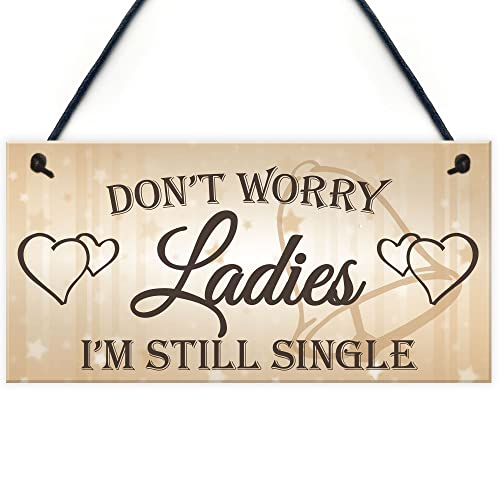 d05efb64fd6ce RED OCEAN Don t Worry Ladies Still Single Novelty Hanging Wedding Plaque Best  Man Gift