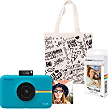 Polaroid Snap Touch Instant Digital Camera (Blue) Starter Kit with Tote Bag