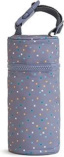 Kenley Insulated Single Baby Bottle Bag - Warmer or Cooler - Travel Carrier, Holder, Tote, Portable Breastmilk Storage - Fits Tall 8oz 9oz Milk Bottles