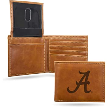 Sterling Silver Michigan State Black Leather Wallet