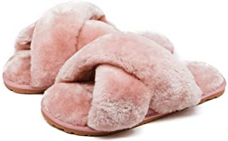 Women's Fuzzy Fluffy Furry Fur Slippers Flip Flop Open...