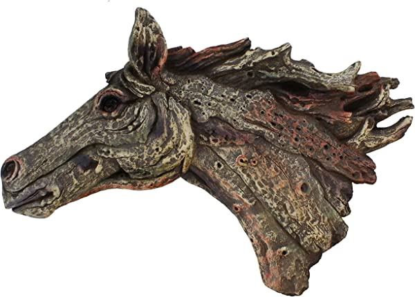 RWI Driftwood Horse Head Large Wall Sculpture Decor Plaque Art